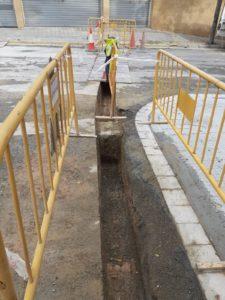 Canalitzación y soterrado de triple trubo en Sentmenat