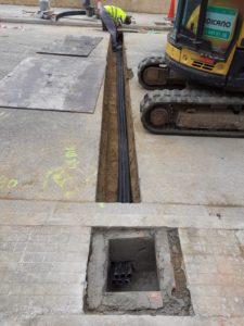 Canalització i soterrat de tri tubs a Sentmenat