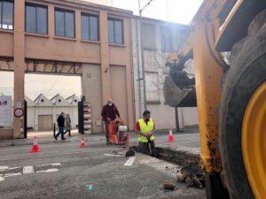 Excavación de zanjas para canalizar biomasa